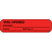 Vial Opened Label