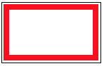 Red Border Tape Labels